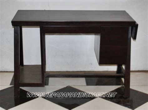 Meja Belajar Komputer Minimalis Jati Retro tempat belanja meja komputer kayu harga murah