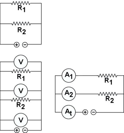 resistor capacitor series parallel physics drawings
