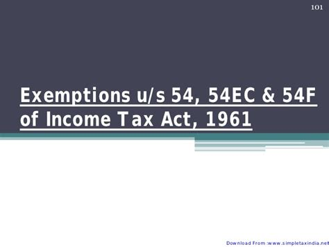 section 54 of income tax act capital gain