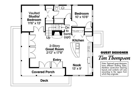 craftsman floor plan craftsman house plans cedar view 50 012 associated designs