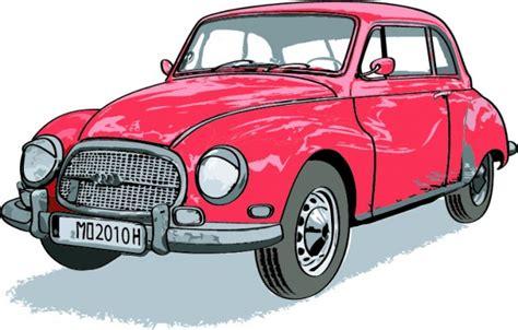 Auto Heßling by Vintage Rode Auto Download Gratis Vector
