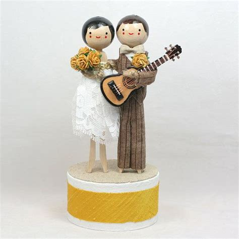 custom wedding cake topper with 1x instrument theme wedding keepsakes and cakes
