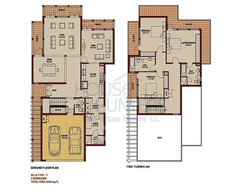 4 Bedroom Townhouse Floor Plans arabian ranches communities
