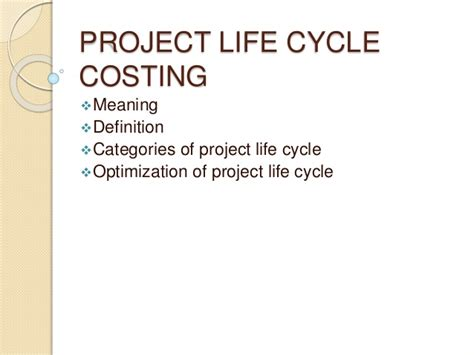 biography project definition project life cycle costing