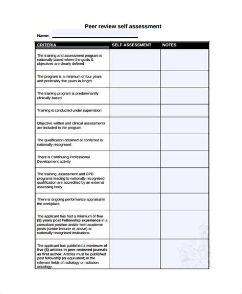 performance review self assessment template 28 images