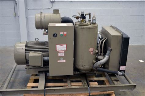 lot 41 leroi compair 50 hp air compressor only 4445 wirebids