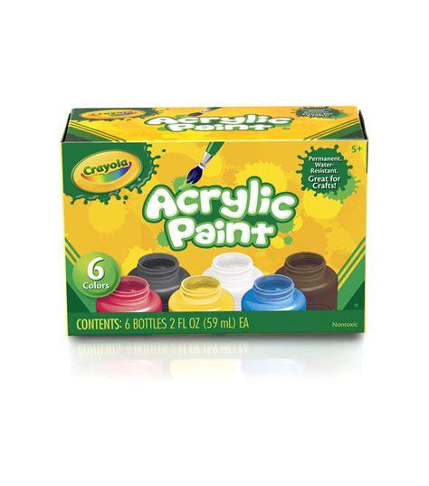acrylic paint joann fabrics crayola acrylic paint set at joann