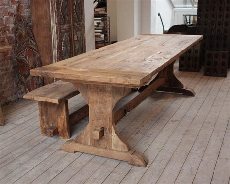 wood dining table with bench rustic wood dining table bench derektime design very