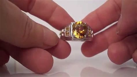 Citrin Golden Zero s citrine sterling silver cross ring w yellow gold