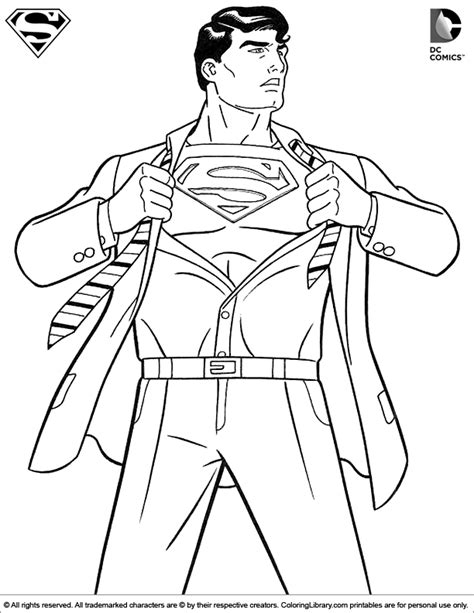 coloring pages of batman and superman superman coloring picture