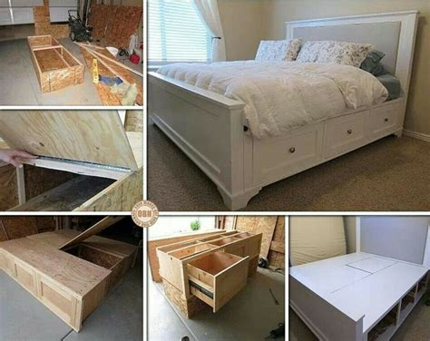 Futonbett Mit Schubladen by Oltre 1000 Idee Su Selbstgebautes Bett Su