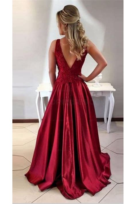 Prom Dresses Nottingham Formal Dresses | a line satin lace long prom evening formal dresses 3021549