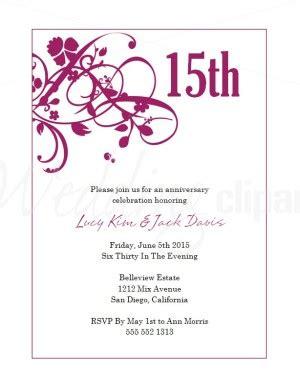 printable wedding anniversary invitation cards printable magenta sweet pea wedding anniversary