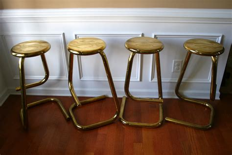Bar Stools Vintage by 4 Vintage Brass Stools Counter Bar Stools Eclectic Home