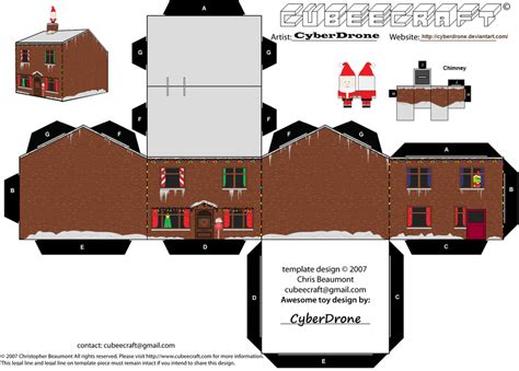 Paper Craft Home - cubee house by cyberdrone deviantart on