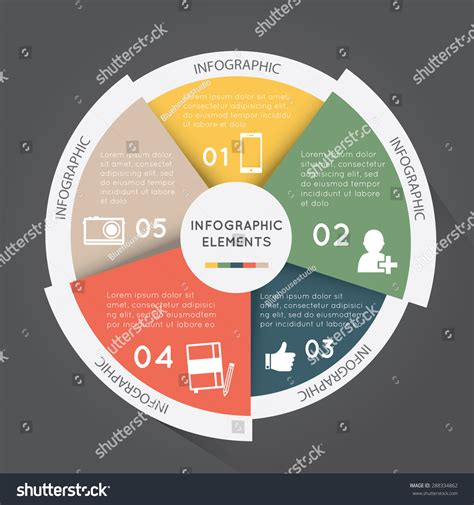 Modern Infographic Elements Pie Chart Documents Stock ...