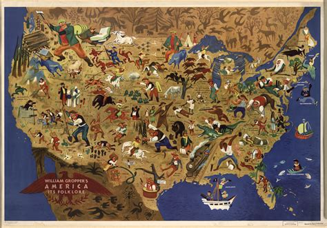 The American Folk all of america s folk heroes in one map vox