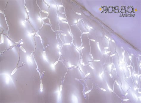 led icicle lights icicle lights white 3mtr x 1mtr 180 leds