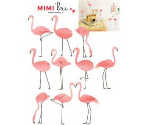 Deco Wall Sticker sticker mural just a touch flamants roses mimilou