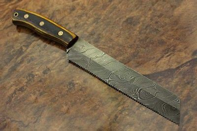 11 5 forged damascus steel bread knife kitchen