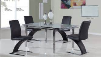 luxurious glass top 5 kitchen set with chairs contemporary dining tables miami