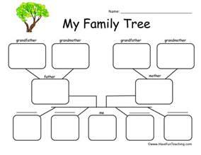 esl family tree template family worksheets teaching