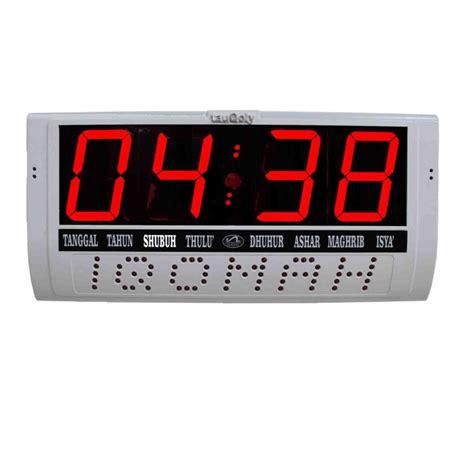 Jam Digital Jumbo 3885dindingmeja jam digital pengingat waktu sholat ukuran jumbo iqo merah toko rizki jaya