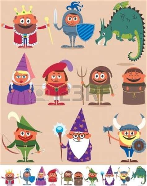 infantil de gracia caballeros medievales conjunto de personajes medievales 10 dibujos animados foto