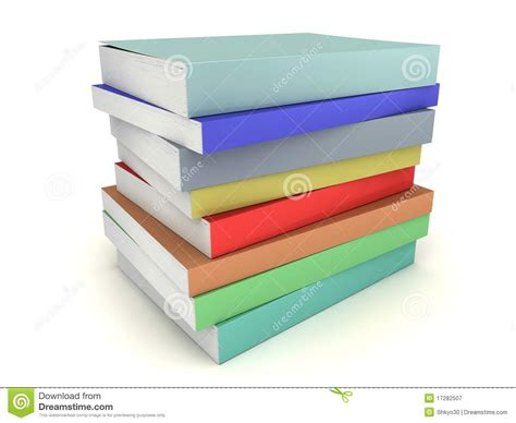 multi books multi colored books stack royalty free stock photography