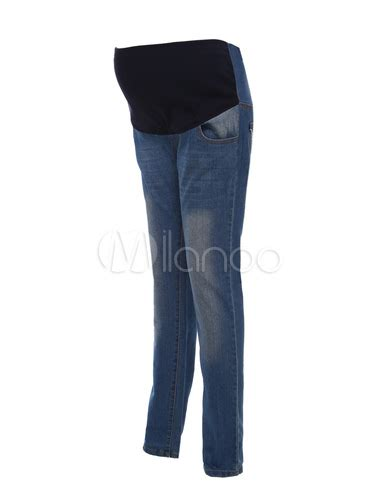 comfortable maternity pants comfortable blue denim maternity jeans milanoo com