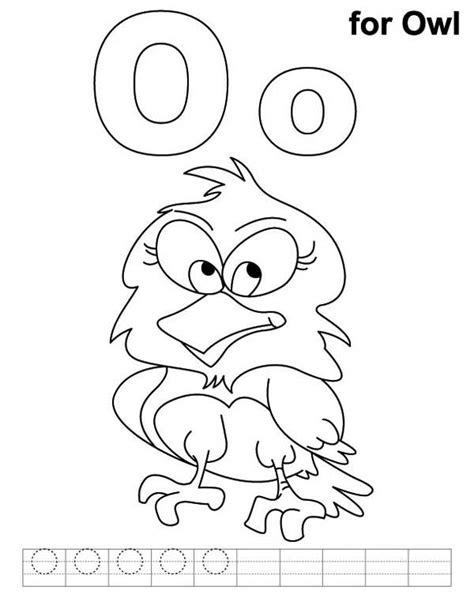 O The Owl Coloring Page by O For Owl Coloring Book For O For Owl Coloring Book