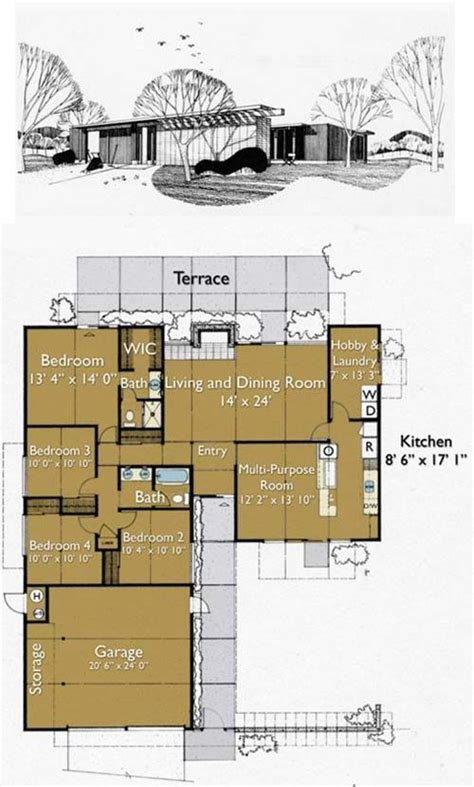 joseph eichler floor plans best 25 eichler house ideas on pinterest joseph eichler