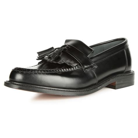 loake tassel loafers loake brighton black tassel loafers mod shoes