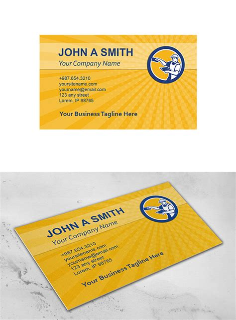 construction business card templates free business card template plasterer wit business card