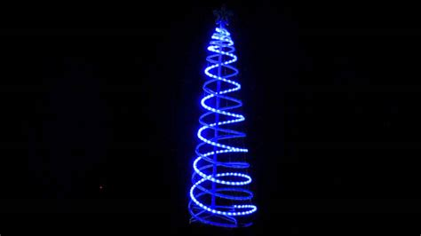 Spiral Trees Blue Cool White 3d Led Rope Light Tree Rope Light Spiral Tree