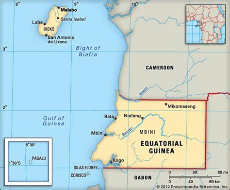 guinea ecuatorial map equatorial guinea location encyclopedia