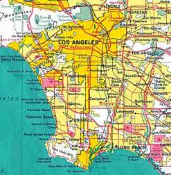 Los Angeles On Map by Pics Photos Los Angeles City Area
