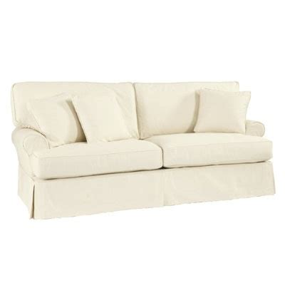 white slipcovered sofa ballard designs white slipcovered sofa home living