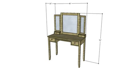 Bedroom Vanity Building Plans Diy Plans To Build A Magnolia Vanity Table