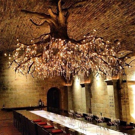 tree branch chandelier lighting tree chandelier in kathryn vineyard bored panda