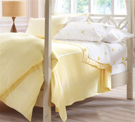 yellow and white bedding seersucker striped bedding yellow white traditional
