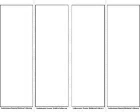 bookmark template free free bookmark template 1 formxls