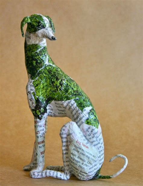 How To Make A Paper Mache Statue - hound whimsical paper mache sculpture custom pieces