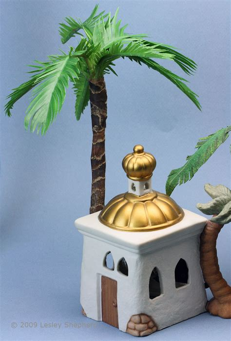 How To Make Model Trees From Paper - make tiny realistic palms from paper or fabric