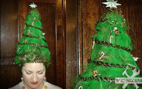christmas tree girls hair do tree hair holleewoodhair