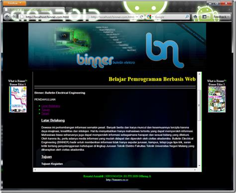 desain layout halaman web membuat desain halaman web berbasis frame pada html roisa