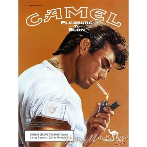 camel cigarettes vintage tobacco metal tin sign poster