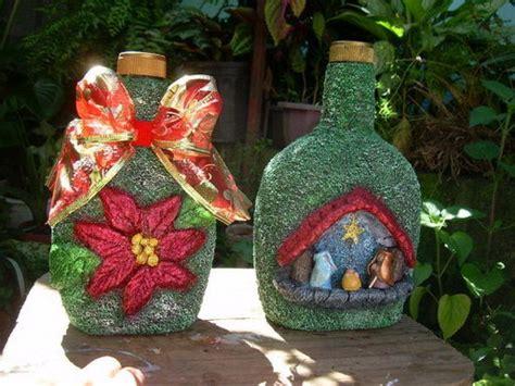 imagenes de navidad para decorar botellas botellas decoradas facilisimo