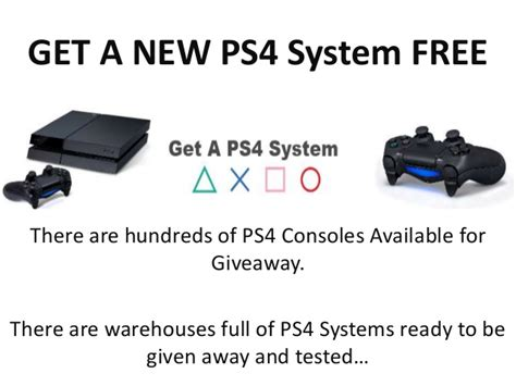 Free Ps4 Console Giveaway - get a free ps4 console