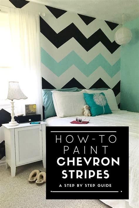Bedroom Paint Ideas Chevron How To Paint Chevron Stripes Black White Turquoise